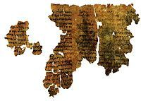en.Wikipedia.org/*** APOCALYPTIC LITERATURE Picture--Dead Sea Enoch Scroll c.200-150 BCE