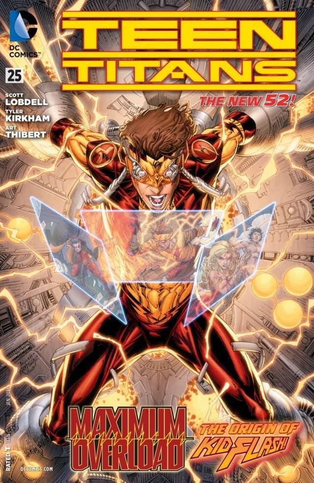 Teen Titans (2011-) #25 A FOREVER EVIL tie-in! The Titans' fall through the time stream is stopped by Echo! But is this the help they've been looking for, or are things about to go from bad to worse?