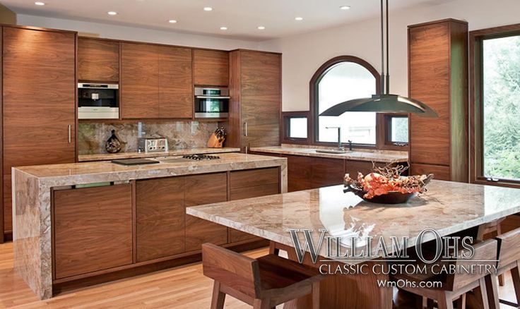 Custom wm ohs contemporary kitchen note the handcrafted for Beautiful custom kitchen cabinets