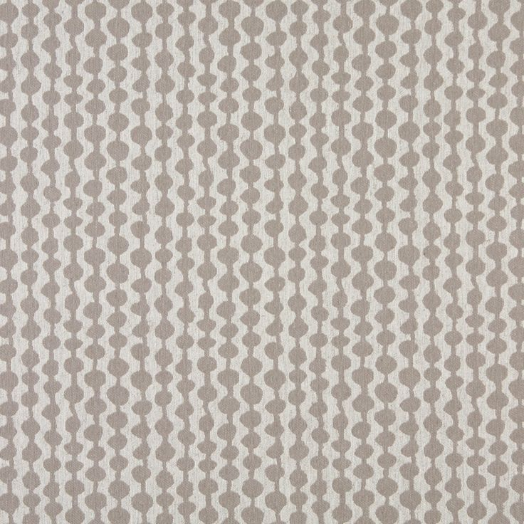 Grey And Off White Circle Striped Upholstery Fabric By The Yard
