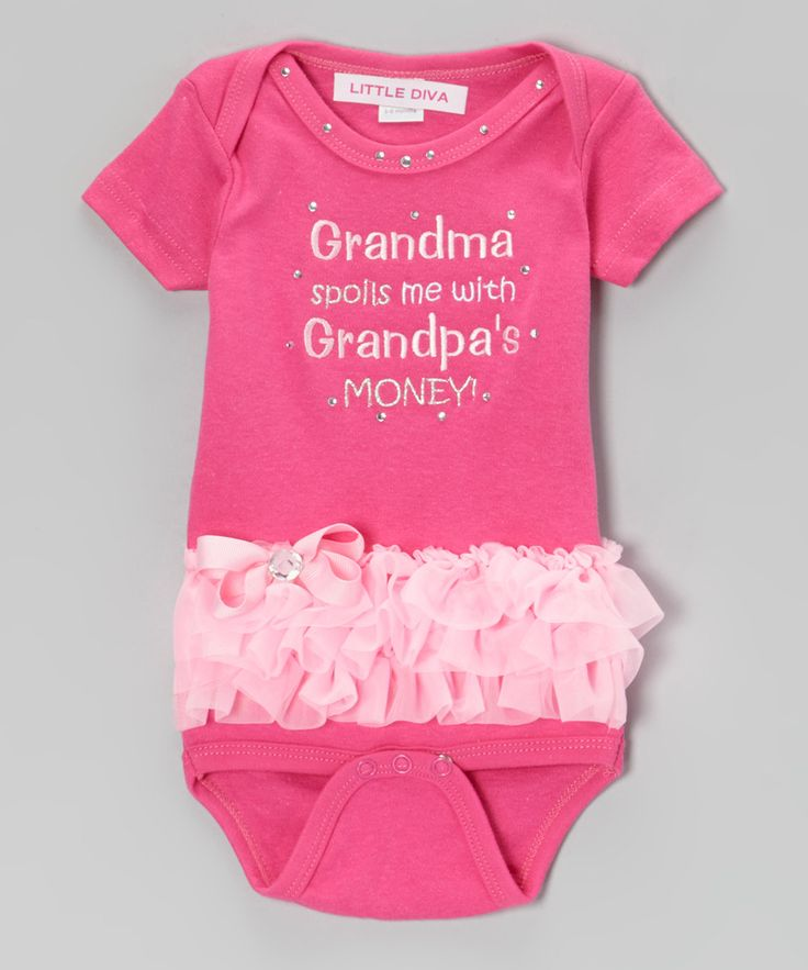Take a look at this little a hot pink grandma spoils bodysuit infant on zulily today