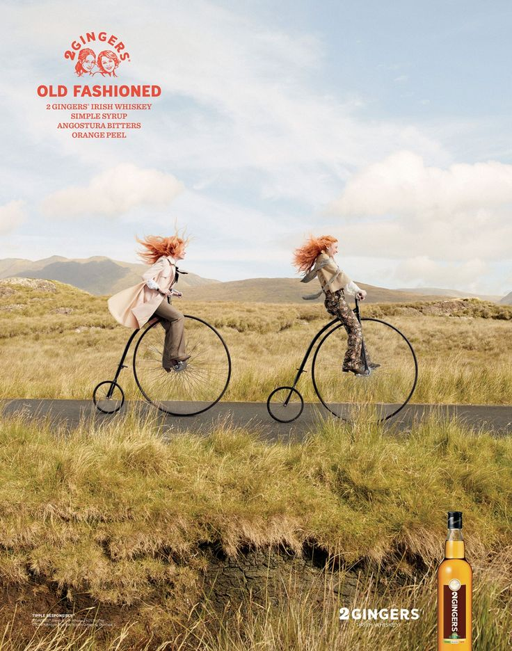 2 Gingers Irish Whiskey Finds the Perfect Ad Characters to Act Out Famous Drink Names