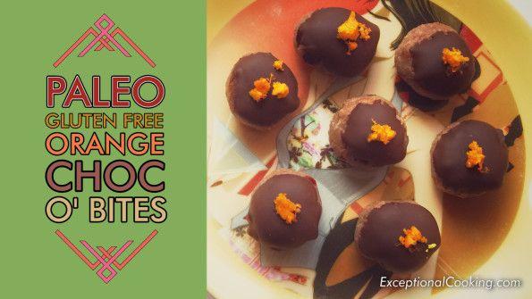 Gluten Free Orange Choco Bites