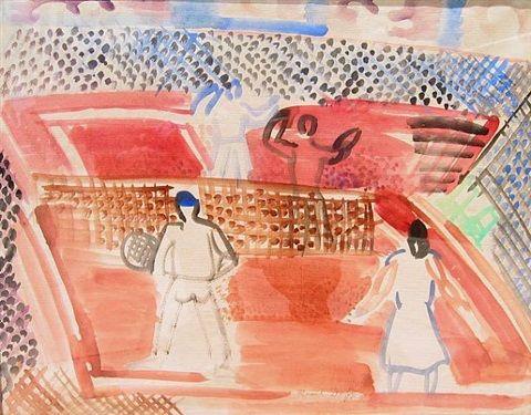 Le Partie de Tennis a Deauville by Raoul Dufy