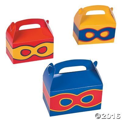 Superhero Treat Boxes - OrientalTrading.com