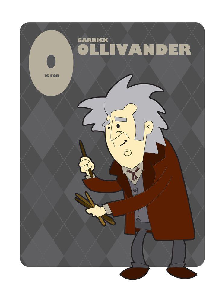 O is for Garrick Ollivander by jksketch.deviantart.com on @DeviantArt