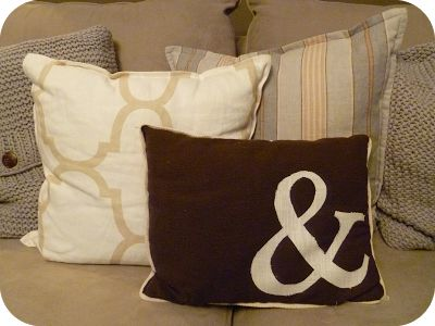 My Suite Bliss: DIY: {Monogrammed Pillow}