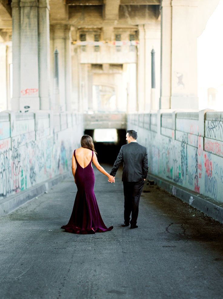 downtown los angeles urban glam engagement photos