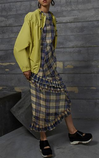 Checkered Asymmetrical Skirt by MARNI for Preorder on Moda Operandi