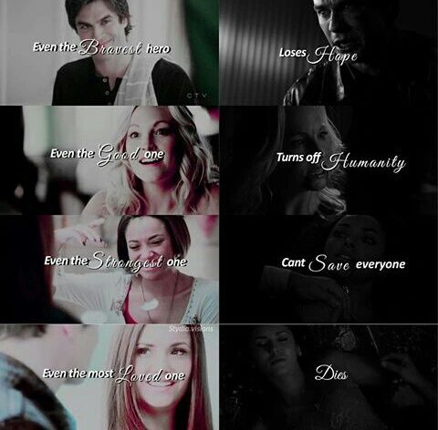 the vampire diaries, tvd, and quote image