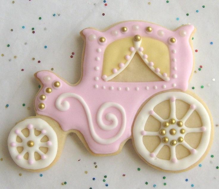 Princess Carriage Cookie Favors - 1 Dozen. $39.99, via Etsy.