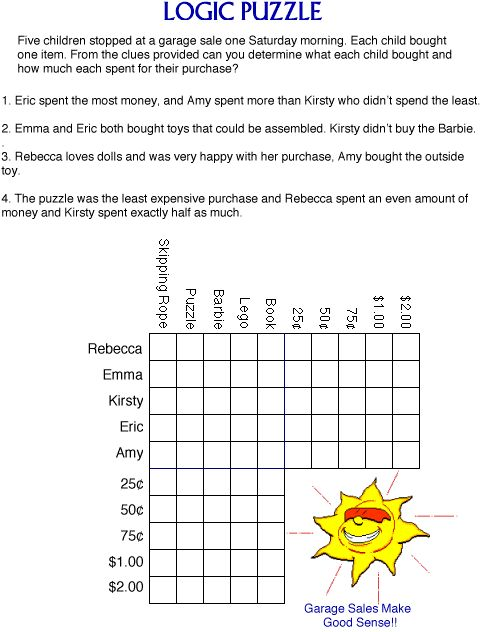 photograph about Logic Puzzles Easy Printable titled Trouble your childs puzzle fixing expertise with this pleasurable