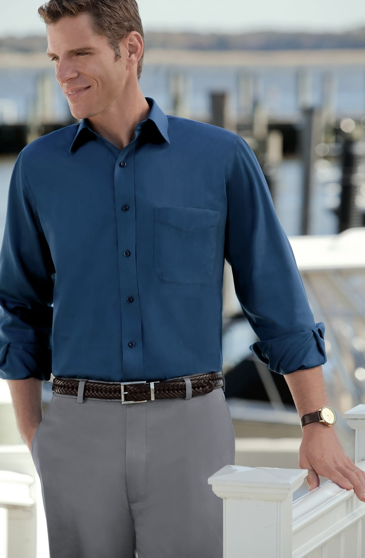 Getting ready for spring with new Traveler Long-Sleeve Cotton Sportshirts.