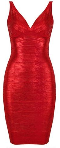 Elijah Celebrity V-Neck Bandage Dress - Metallic Red, Holiday Dresses | RawGlitter.com http://www.rawglitter.com/collections/clothes-dresses/products/elijah-liquid-bandage-dress-metallic-red