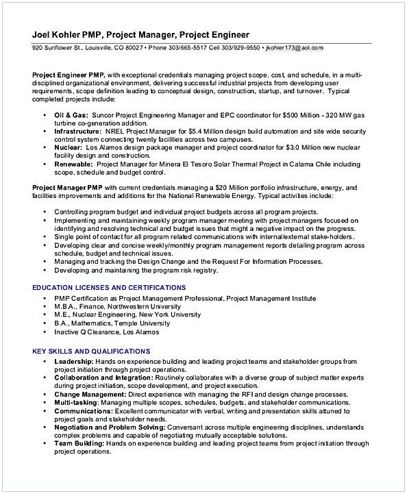 Experience entry level project Management Resume , Entry