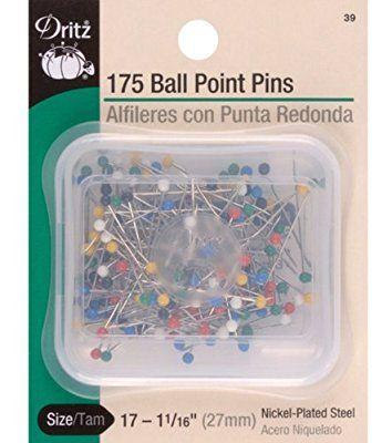 Dritz - Spilli con testa tonda colorata, misura 17, 175 pezzi