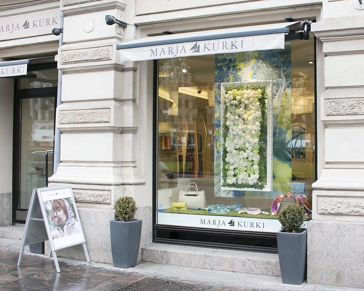Summer window display with flower power