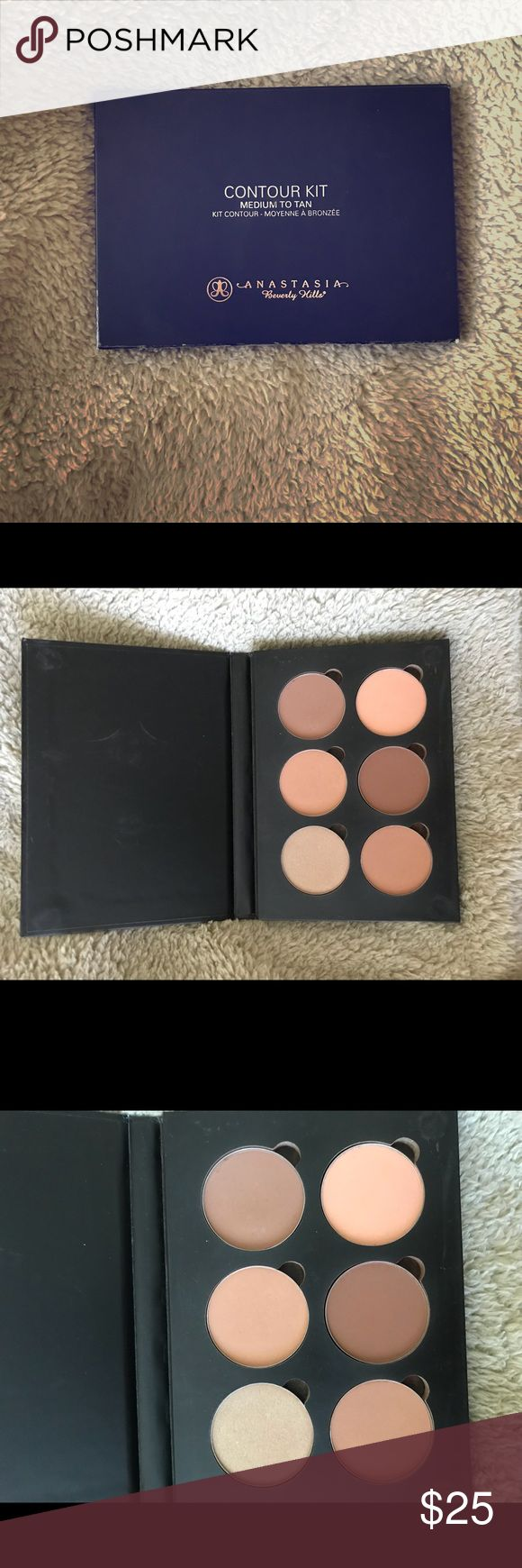Anastasia Beverly Hills Contour Kit Only used a few times. Amazing kit with everything you need. Color is medium to tan. Read the reviews online, they're great! Anastasia Beverly Hills Makeup Bronzer