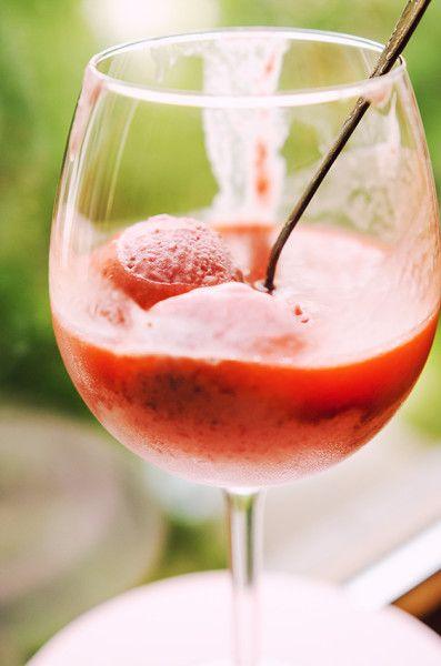 Rhubarb and strawberry kissel