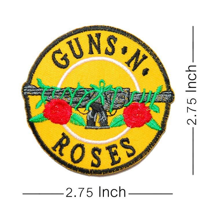 GUNS N ROSES Rock Band logo embroidered patch. Come with glue paper on back side. Easy to use just iron on patch. work with clothing, t shirt, backpack, jeans. Rockabilly fashion,  punk fashion, rock wear to concert is cool!!. Member is slash, axl rose, buckethead, izzy stradlin, dj ashba, steven adler, matt sorum, dizzy reed, gilby clarke, robin finck. Famous studio album is appetite for destruction, chinese democracy, the spaghetti incident?, use your illusion ii.