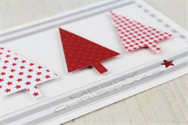 Carolas Bastelstübchen: Weihnachtskarten rot............