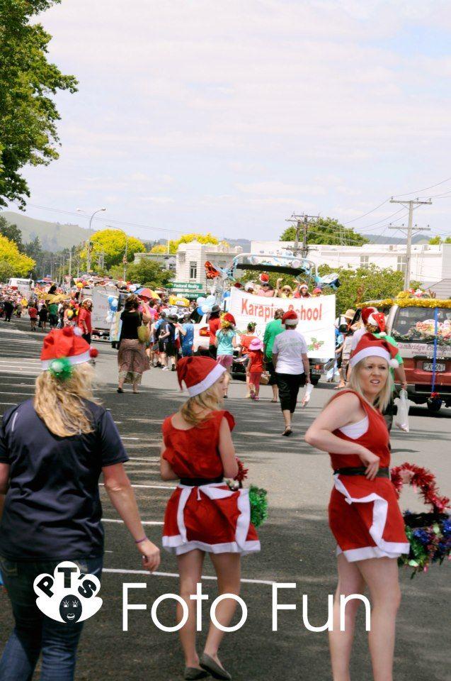 Christmas parade in Cambridge, NZ 2012