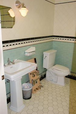 Restored Art Deco Bathroom