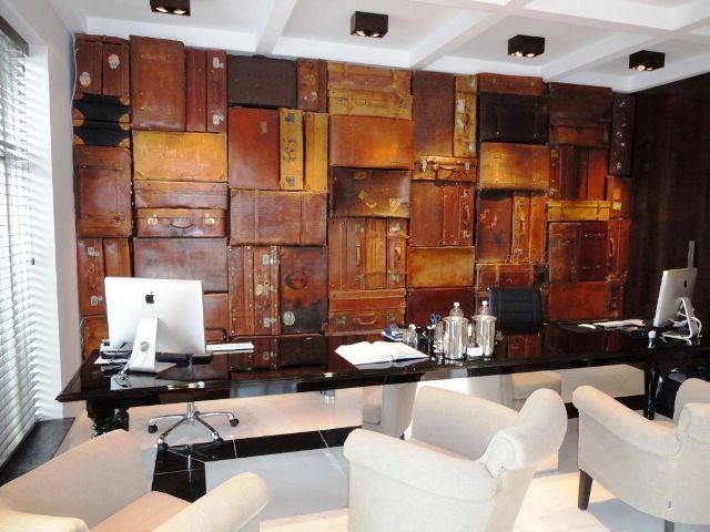 """Hotel design trend: luggage used as decor   """"notting hill hotel"""""""