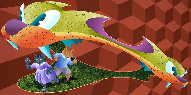 "ANTHONY AUSGANG ""The Happy Dance"" 2010Acrylic on Canvas 36 x 72 inch. #arcadeartgallery #arcadeartgallery#anthonyausgang #mgmt #popsurrealism #lowbrowart #lowbrow #kustomkulture#juxtapozmag #mgmt #fishbone#greenday #artillerymagazine#highfructosemag #artstagram #artist#artistsoninstagram #art #beautiful #instaart #instaartsy #instaartwork #instaartist #instaartpop #instaarthub #instaartoftheday #instaarte #instaarts #instaartistic #art #artwork #artist #artshow #artgallery"