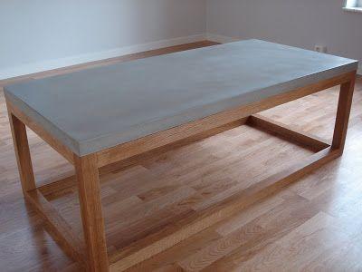 Vardagsrumsbord, betong o trä