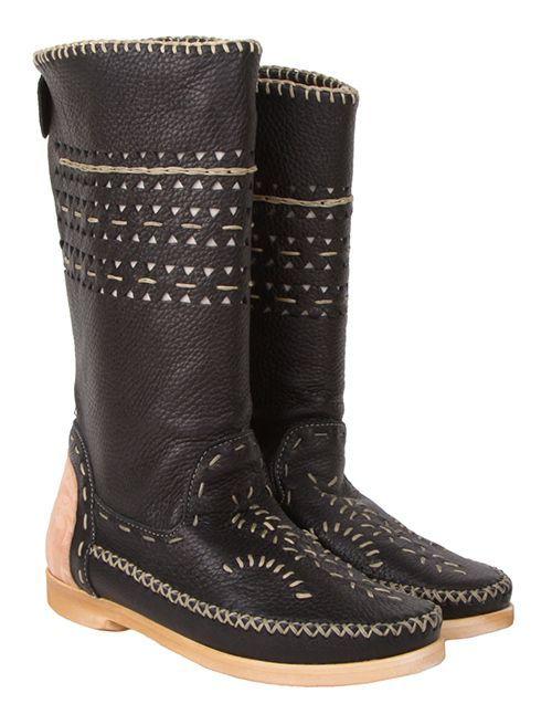 Giemme Черные кожаные женские сапоги бренда Giemme