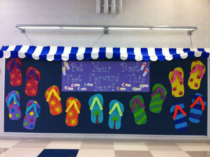 Beach Theme back to school bulletin board or end of the year