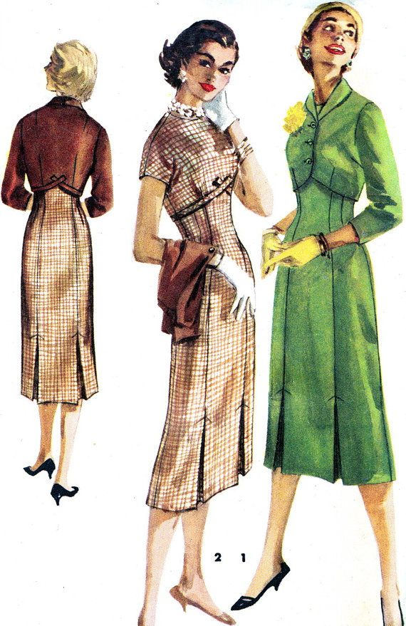 Vintage Sewing Pattern 1950s Simplicity 1525 Empire by paneenjerez, $20.00