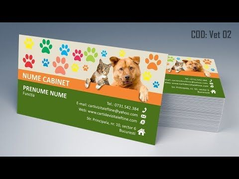 http://cartidevizitaieftine.com/ va prezinta modele Carti de vizita veterinar, doctor medic veterinar, cabinete veterinare, ingrijire animale, caini, pisici, iepuri, papagali, perusi, animalute, carti de vizita tiparite prin print digital sau offset de calitate la rezolutie de 300dpi in modul cmyk. Modele carti de vizita medic veterinar gasiti accesand pagina: http://cartidevizitaieftine.com/veter... . De asemenea toate modelele se pot modifica in functie de preferintele clientului, in…