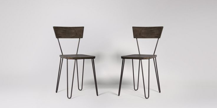 Kyoto Gunmetal Dining Chair, Set Of Two | Swoon Editions