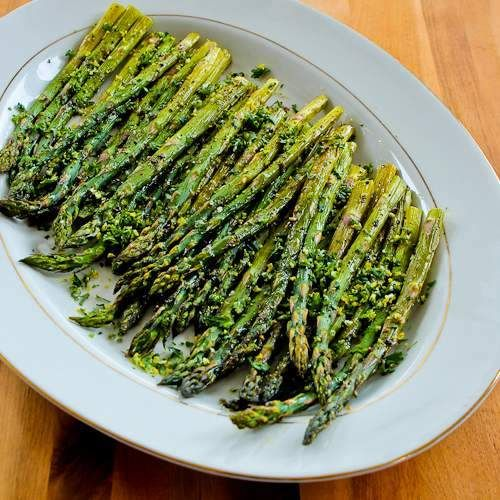 Recipe for Easy and Amazing Roasted Asparagus with Gremolata (Low-Carb, Gluten-Free, Paleo)