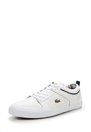 Кеды от Lacoste - это легкая и удобная летняя обувь. Верх модели выполнен из комбинации натуральной и искусственной кожи. Детали: текстильная подкладка, шнуровка на подъеме, гибкая плоская подошва. http://j.mp/1nltgxX
