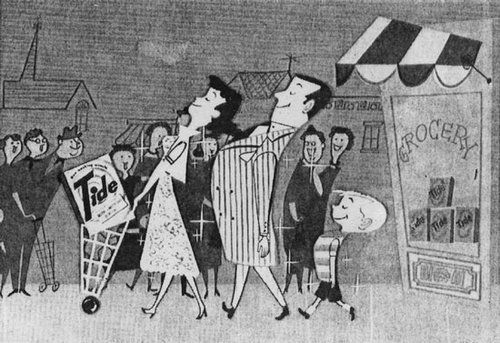 TV commercial for Tide (ca. 1951, Tempo Productions)  director: David Hilberman  designer: unknown