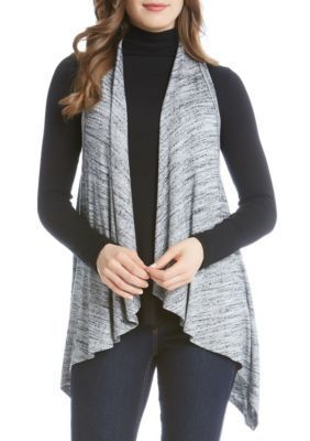 Karen Kane Light Gray Drape Vest