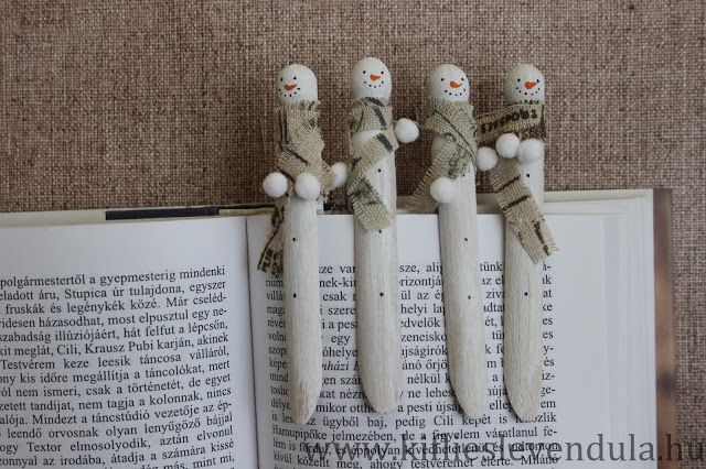 Hóember könyvjelzők