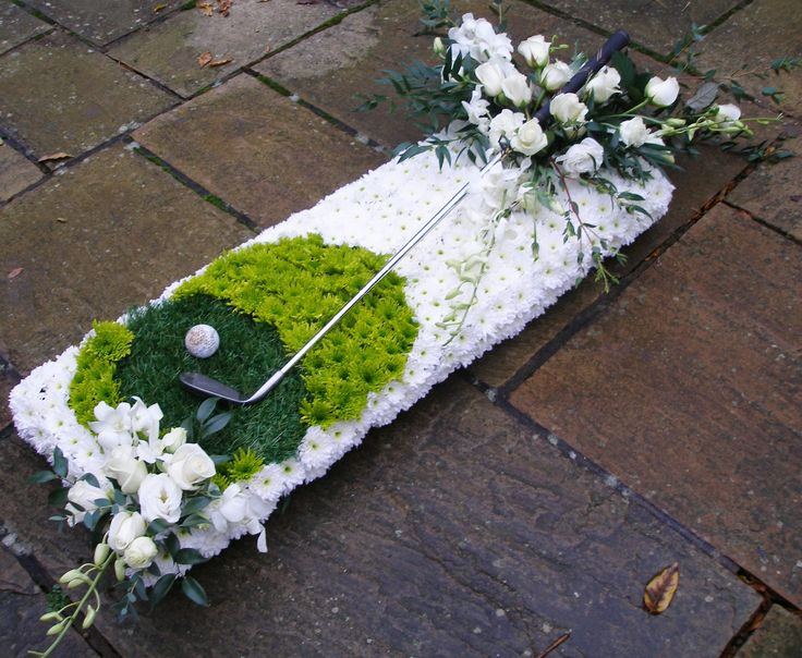 Gorgeous Golf Tribute- Funeral Sympathy Flowers by Kettering Funeral Flowers at Rockingham Flowers