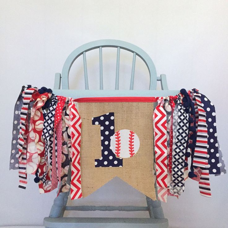 ONE 1 Baseball Highchair First Birthday Party Decorations Navy Blue & Red Burlap Bunting Pennant Banner for Baby Boy Photo Prop by MsRogersNeighborhood on Etsy https://www.etsy.com/listing/505643555/one-1-baseball-highchair-first-birthday