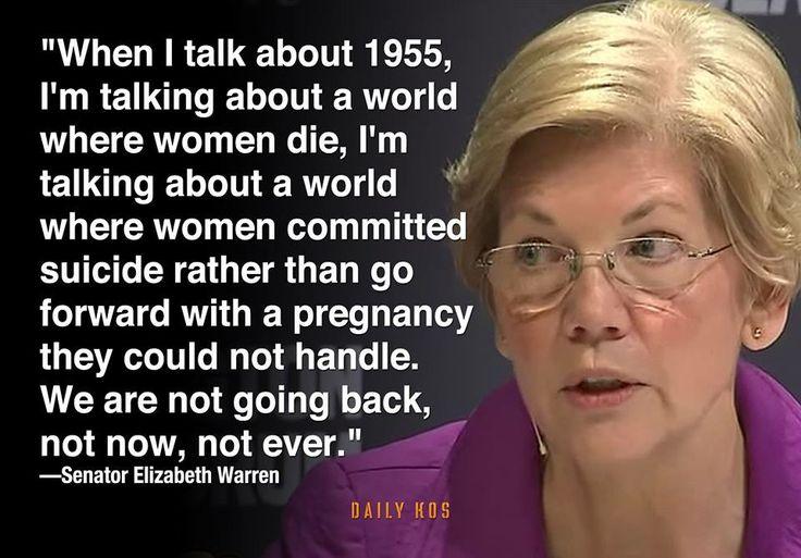 Elizabeth Warren, a strong woman's voice in congress.