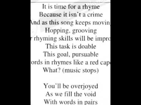 ▶ Etienne - Rhyming Song (from the cd Grammar Jams 2) - YouTube