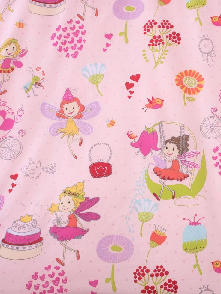 Fairy Party Duvet Set - Pink (Single) for children & kids in S.A.