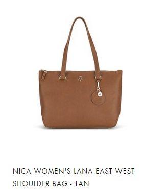 NICA LANA EAT WEST SHOULDER BAG TAN
