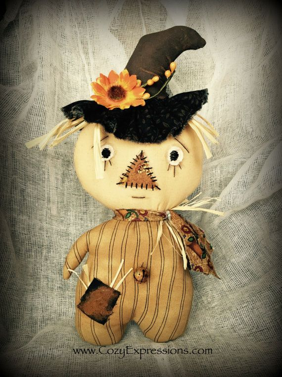 Primitive Stumpkin Scarecrow Doll by CozyExpressions on Etsy