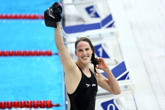 American swimmer Missy Franklin won gold in the women's 200m backstroke and set a new record originally held by Kirsty Coventry of Zimbabwe in 2009. (Getty Images)