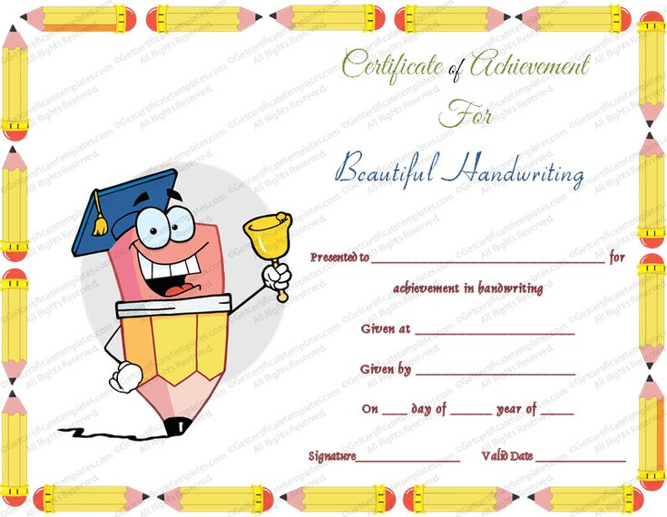 62 best End of Year Awards images on Pinterest Social skills - certificate of achievement for kids