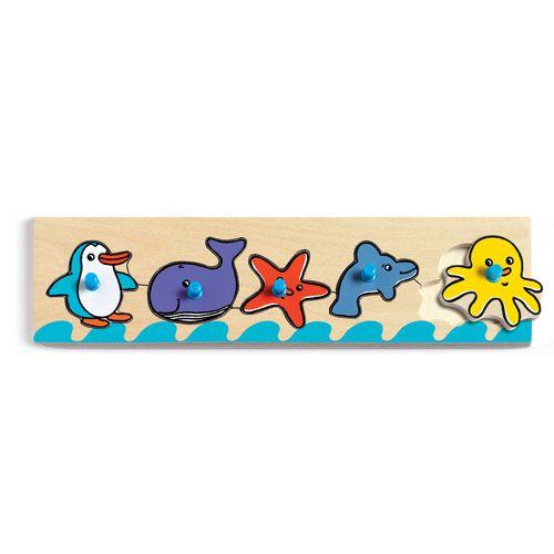 Djeco Ξύλινα Σφηνώματα «Ζωάκια της Θάλασσας»